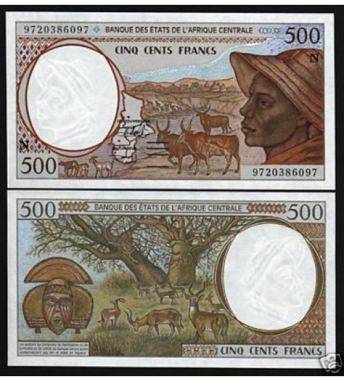 Central African States 500 Francs 2000 UNC
