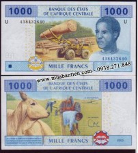 Central African States 1000 Francs 2002 UNC