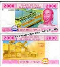 Central African States 2000 Francs 2002 UNC