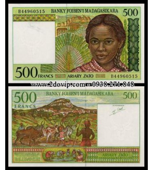 MS1463 : Madagascar 500 Francs 1994 UNC