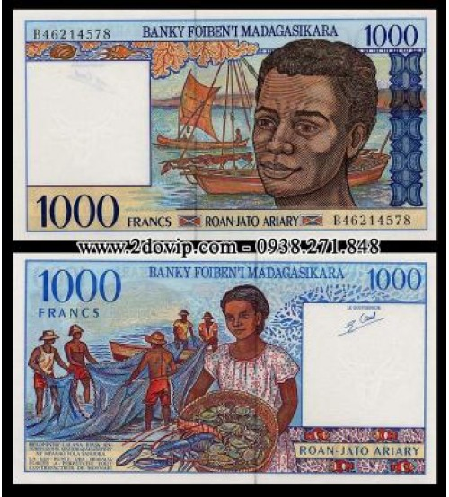 MS1464 : Madagascar 1000 Francs 1994 UNC