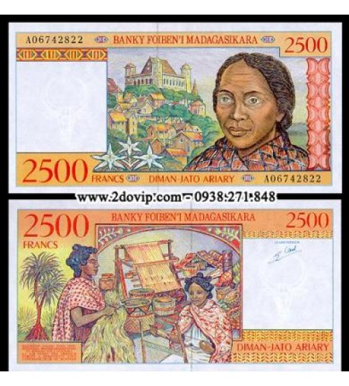 MS1465 : Madagascar 2500 Francs 1998 UNC