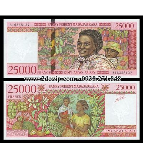 MS1467 : Madagascar 25000 Francs 1998 UNC