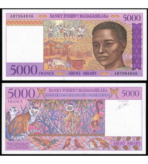 MS2296 : Madagascar 5000 Francs 1995 UNC