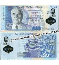 MS2134 : Mauritius 50 Rupees 2013 UNC polymer