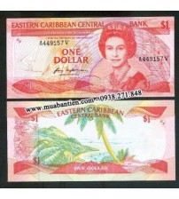MS1078 : East Caribbean 1 Dollar 1985 UNC
