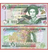 MS1079 : East Caribbean 5 Dollar 2003 UNC