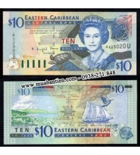 MS438 : East Caribbean 10 Dollar 2003 UNC