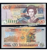 MS1080 : East Caribbean 20 Dollar 2003 UNC