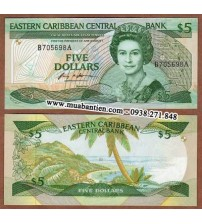 MS2000 : East Caribbean 5 Dollar 1988 UNC