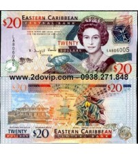 MS1604 : East Caribbean 20 Dollar 2008 UNC