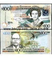 MS1606 : East Caribbean 100 Dollar 2008 UNC