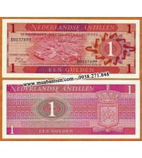 MS709 : Netherlands Antilles 1 Gulden 1970 UNC