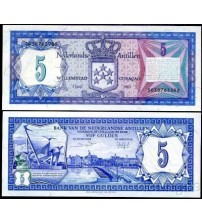 MS711 : Netherlands Antilles 5 Gulden 1984 UNC