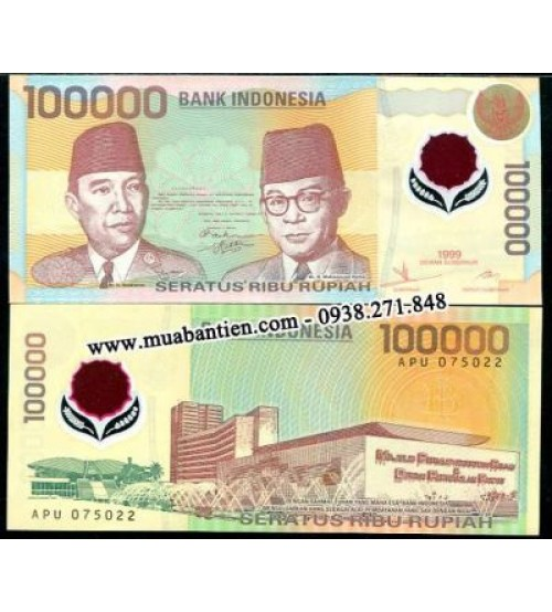 Indonesia 100000 Rupiah 1999 UNC polymer