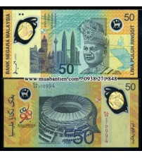 MS1800 : Maylaysia 50 Ringgit 1998 UNC polymer