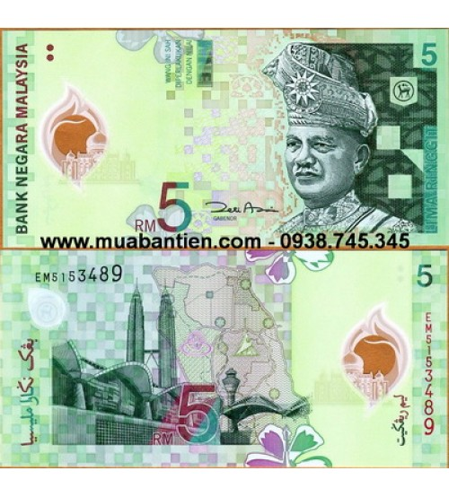 MS2301 : Malaysia 5 Ringgit 2004 UNC polymer