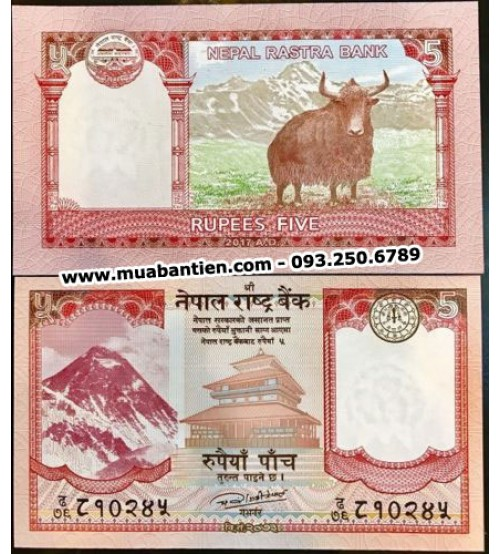 MS2631 : Nepal 5 Rupees 2017 UNC