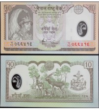 R334 : Nepal 10 Rupees 2002 UNC polymer