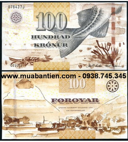 Faeroe Islands 100 Kronur 2012 UNC