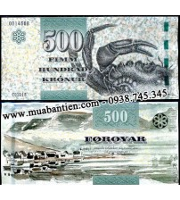 MS1507 : Faeroe Islands 500 Kronur 2012 UNC