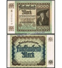 MS655 : Đức - Germany 5000 Mark 1922 AUNC