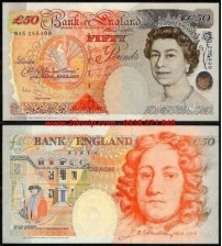 MS1626 : Anh - Great Britain 50 pounds 2004 UNC