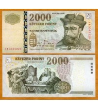 MS599 : Hungary 2000 Forint 2008 UNC