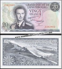 MS729 : Luxembourg 20 Francs 1966 UNC