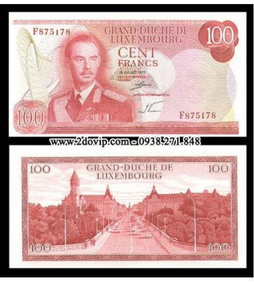 Luxembourg 100 Francs 1970 UNC