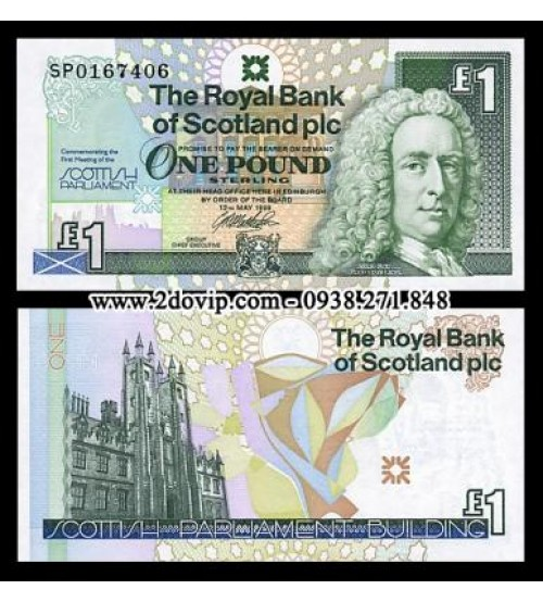 Scotland 1 Pound 1999 UNC Bank of Scotland