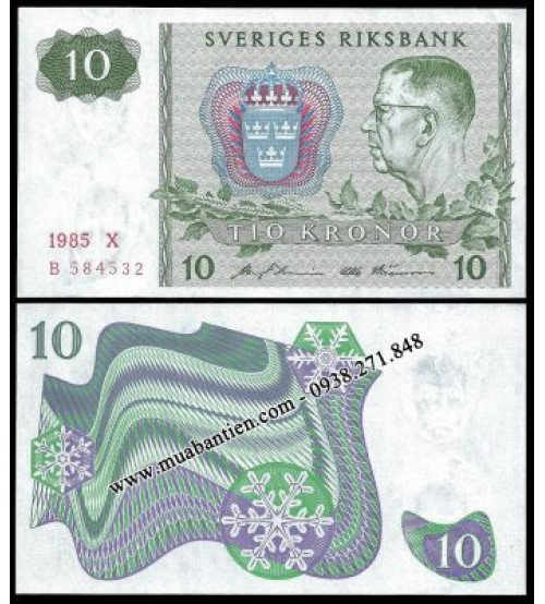 Thụy Điển - Sweden 10 Kronor 1985 UNC