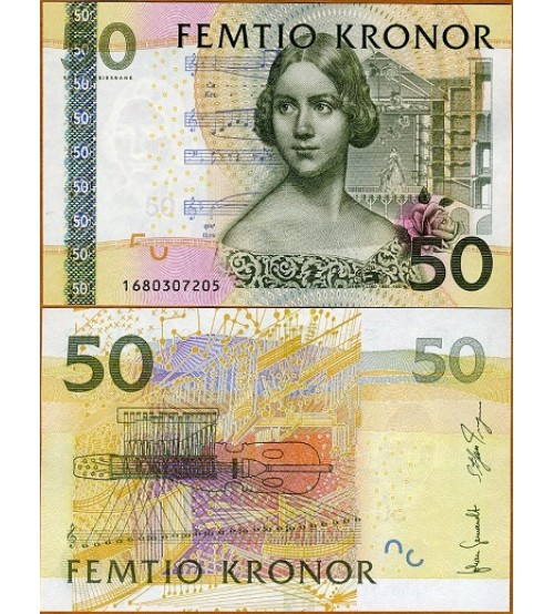 Thụy Điển - Sweden 50 Kronor 2011 UNC