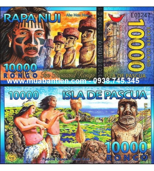 Đảo Phục Sinh - Easter Island 10000 Rongo 2013 UNC polymer