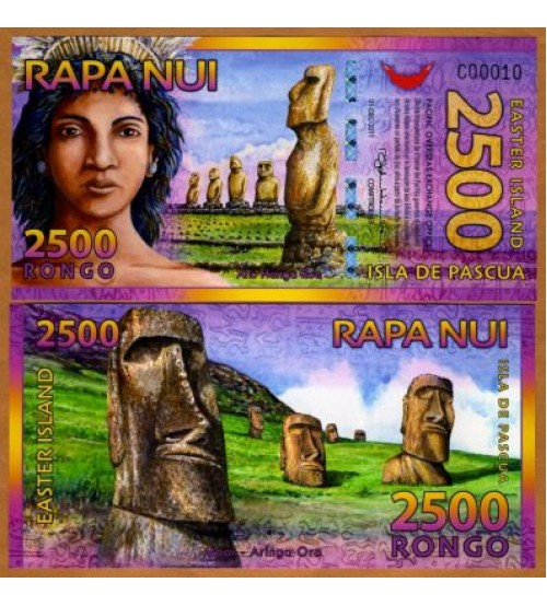 Đảo Phục Sinh - Easter Island 2500 Rongo 2012 UNC polymer