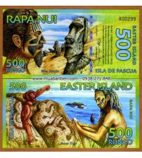 MS1661 : Đảo Phục Sinh - Easter Island 500 Rongo 2011 UNC polymer