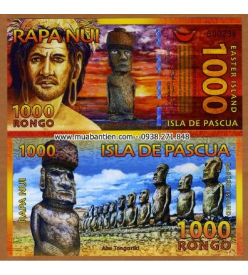 Đảo Phục Sinh - Easter Island 1000 Rongo 2011 UNC polymer