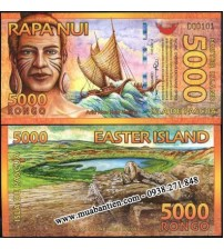 MS2077 : Đảo Phục Sinh - Easter Island 5000 Rongo 2012 UNC polymer