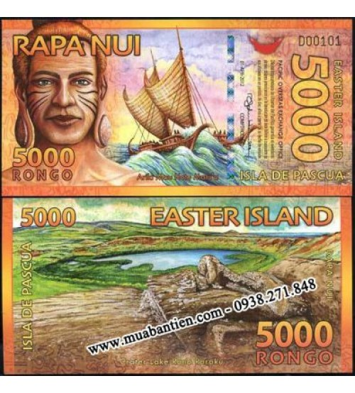 Đảo Phục Sinh - Easter Island 5000 Rongo 2012 UNC polymer