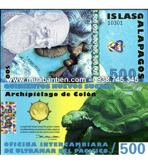 Galapagos Islands 500 Sucres 2012 UNC polymer