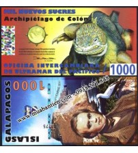 MS2179 : Galapagos Islands 1000 Sucres 2011 UNC polymer