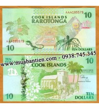 Cook Islands 10 Dollar 1992 UNC