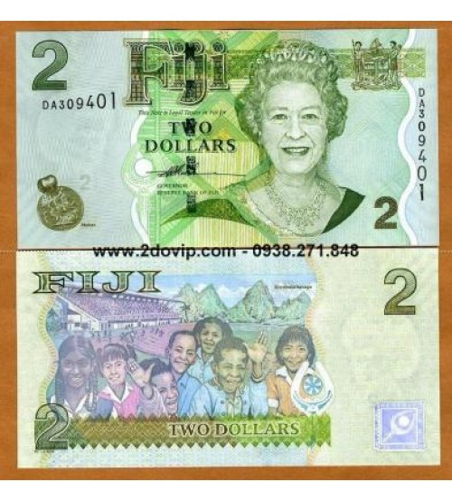 MS1607 : Fiji 2 Dollar 2007 UNC